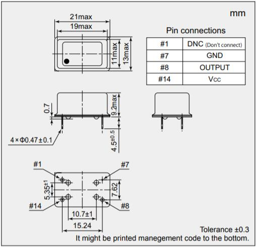 NDK晶振,恒温晶振,NH21M13LC晶振,低功耗振荡晶振
