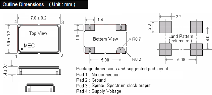 MERCURY晶振,SPXO振荡器,HM572R石英晶振